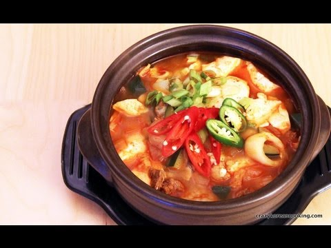 ... to make Soondubu Jjigae, Spicy Soft Tofu Stew | Crazy Korean Cooking