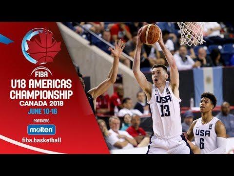 USA v Argentina - Semi-Finals - Re-Live ENG - FIBA U18 Americas Championship 2018
