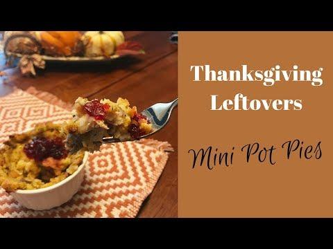 Thanksgiving Leftovers Mini Pot Pies