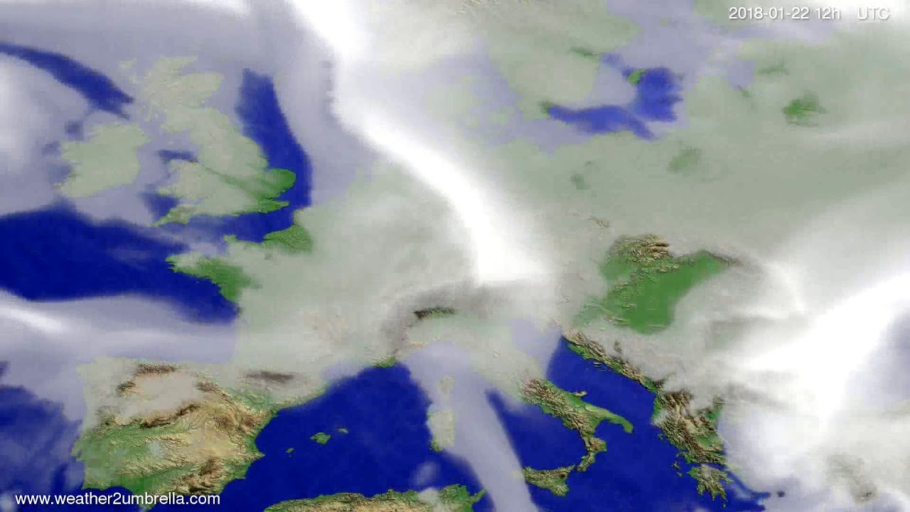 Cloud forecast Europe 2018-01-18