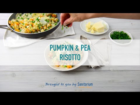 Roast pumpkin and pea risotto thumbnail 3