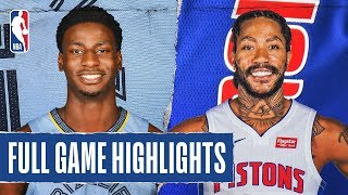GRIZZLIES at PISTONS | FULL GAME HIGHLIGHTS | January 24, 2020 by NBA