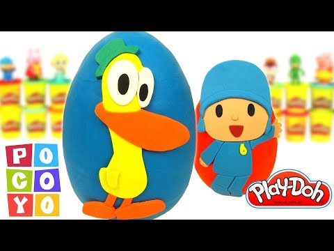 Pocoyo português Brasil - Ovos Surpresas do Pocoyo e do Pato em Português Brasil de Massinha Play Doh