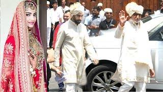 Video Amitabh Bachchan With Abhishek Bachchan Returns After Attending Sonam Kapoor & Anand Ahuja's Wedding MP3, 3GP, MP4, WEBM, AVI, FLV September 2018