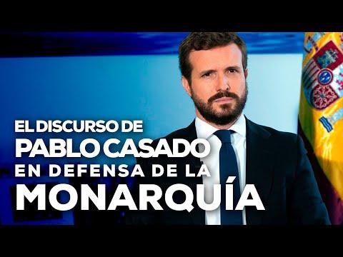 El discurso de Pablo Casado en defensa de la Monar...