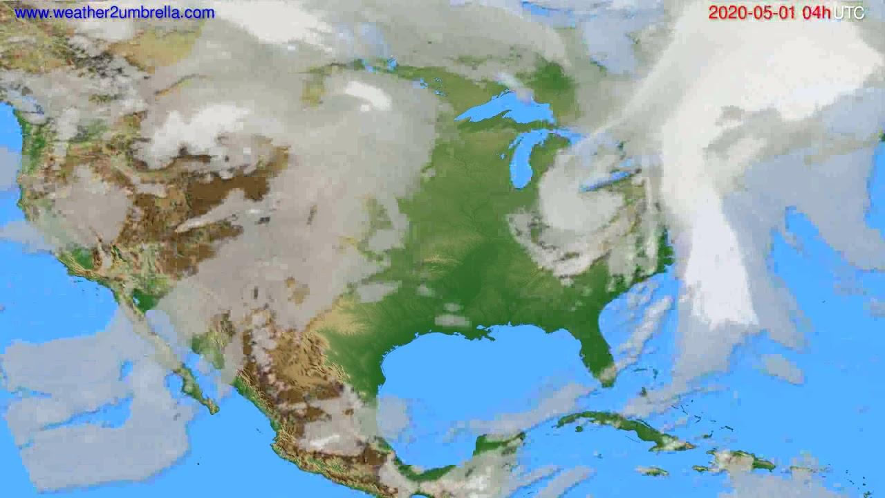 Cloud forecast USA & Canada // modelrun: 12h UTC 2020-04-30