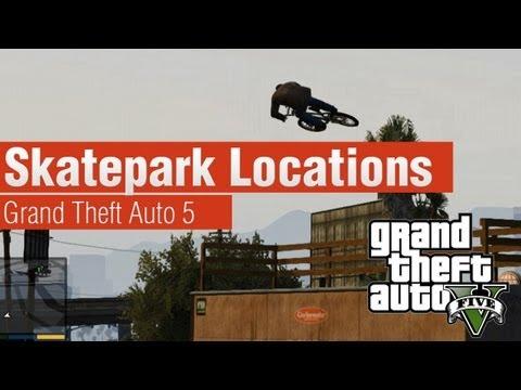 GTA 5 - All Skatepark Locations (Single Player)