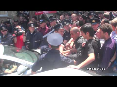 LGBT - Priests and thousands of other Georgians broke through police barricades and forced gay rights activists to flee on Friday, cutting short their rally to mark...