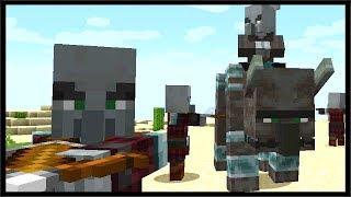 Minecraft 1.14 Illager Beast Raid Party & Scaffolding | Minecraft 18w45a