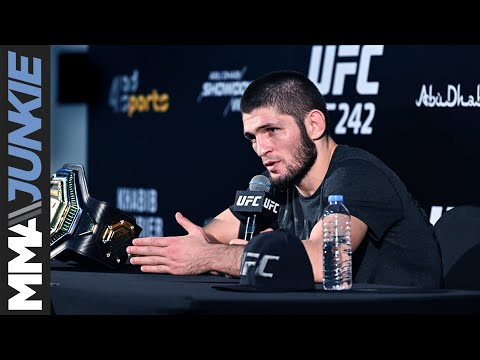 UFC 242: Khabib Nurmagomedov full post-fight interview