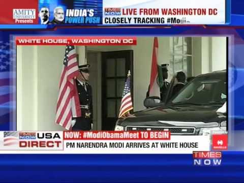 Narendra Modi arrives at White House 30 September 2014 08 PM