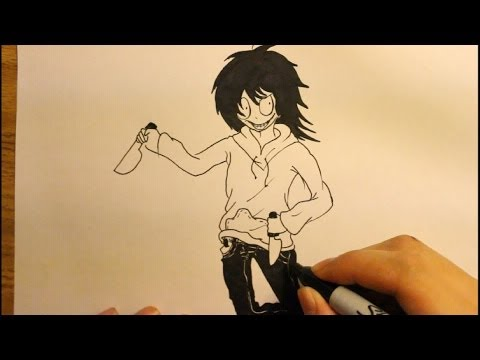 Jeff The Killer Drawing Easy Draw Jeff The Killer|step