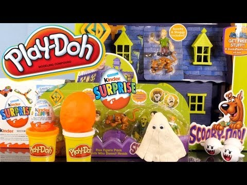 mansion videos - Scooby Doo Where Are You !? In a Mystery Mansion Playset of course! Playdoh Surprise Egg Opening + Kinder Surprise Egg Unboxing also in the video! Scooby Doo...