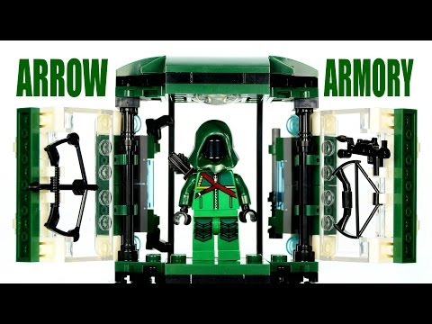 LEGO CW's Arrow Armory Tech Gear KnockOff Set from TV Series Speed Build