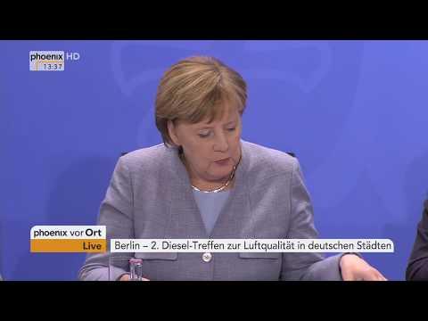 Pressekonferenz zum 2. Dieselgipfel zur Luftqualitä ...