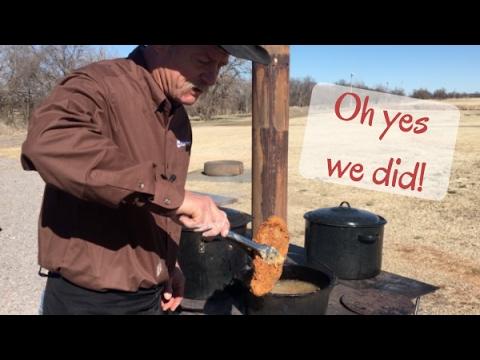 Cowboy Kent Rollins Shows How To Deep Fry A Steak