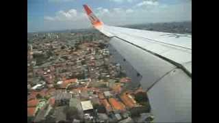 Pouso em Congonhas 737-800  PR-GUB   VIX/CGH