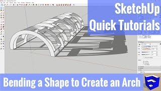 Video Bending a Shape to Create an Arch in SketchUp MP3, 3GP, MP4, WEBM, AVI, FLV Desember 2017