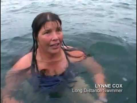 "Lynne Cox in the documentary ""Haunts of the Black Masseur – the Swimmer as Hero'"""