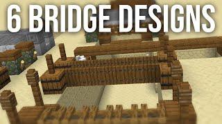 6 Simple Bridge Designs for Minecraft