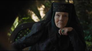 HBO Game of Thrones S06E10 Sand Snakes Olenna Tyrell Meeting.