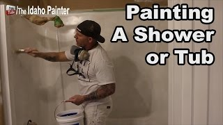 How to paint a shower