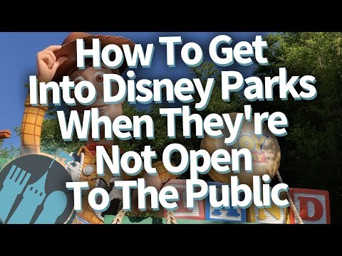 How To Get Into The Disney Parks When They're Not Open And Other Super Secret Tips!