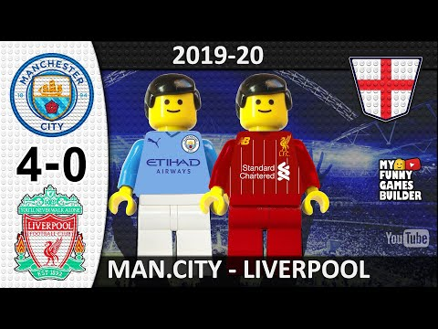 Manchester City vs Liverpool 4-0 • Lego 03/07/2020 • All Goals Highlights Lego Football