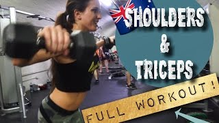 Corio Australia  city photos : FULL SHOULDER & TRICEP WORKOUT// Strong and Toned Arms! // 2016 Arnold Australia Mini-Series