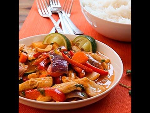 pollo al curry con verdure - la videoricetta