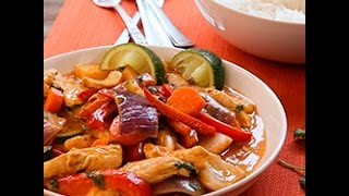 Pollo al curry con verdure