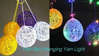 How to Make a Lantern with Yarn | Gorgeous DIY Yarn Orbs | How to Make Balloon Orbs