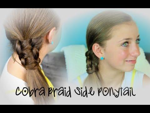 Cobra Braid Side Ponytail | Cute Girls Hairstyles