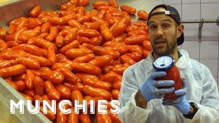 Frank Pinello Meets The Tomato Canning Masters of San Marzano by Munchies