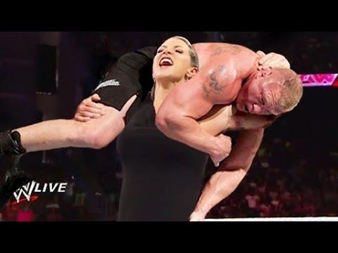 Stephanie McMahon vs Brock Lesnar Full Match HD