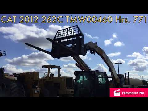 CATERPILLAR MINICARGADORAS 262C equipment video QCrg9Tw0bGE