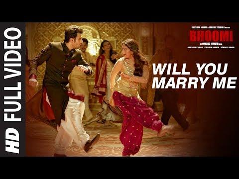 Will You Marry Me Full Video Song | Bhoomi |Aditi Rao Hydari, Sidhant | Sachin - Jigar |Divya&Jonita