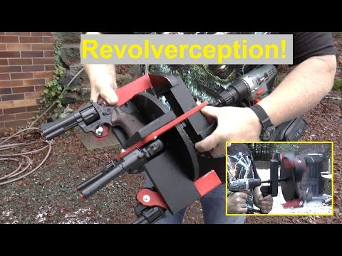 Crazy Slingshot Guy Turns Four Revolvers Into Fully Automatic Machine