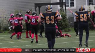 NCAFA 2K16 - PEEWEE - Week 7 CORNWALL WILDCATS VS WARRIORS