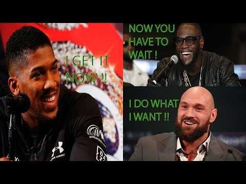 Breaking News: Anthony Joshua Says I'm Not Fighting Wilder Or Fury Til 2020, I Come To Understand !