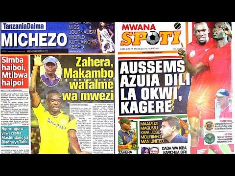 MICHEZO Magazetini Jumamosi 8/12/2018:Makambo na Zahera Ndio Bora November