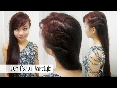 party hairstyle - Facebook: http://Facebook.com/x3Thuha Instagram: x3Thuha Tumblr: http://x3haha.tumblr.com/ Heylo lovelies! I know I'm late but HAPPY NEW YEAR! :D I hope you ...