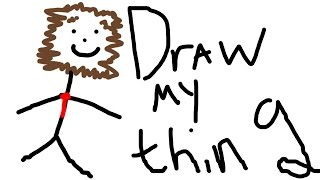 MOST HILARIOUS FIRST WORD EVER! - Minecraft DRAW MY THING