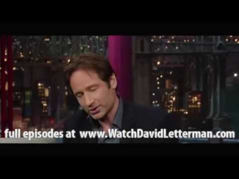 David Duchovny in Late Show with David Letterman December 9, 2011