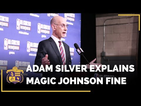 Video: NBA Commissioner Adam Silver Explains The NBA Fine On Lakers Magic Johnson