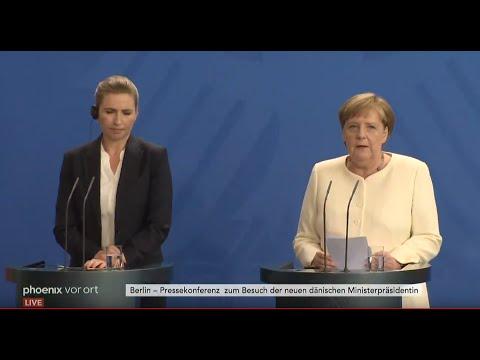Pressekonferenz mit Merkel und Frederiksen (Ministerpräsidentin Dänemark) zu den deutsch-dänischen Beziehungen