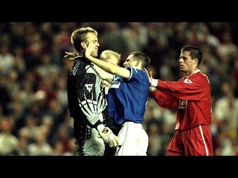The Dirty Side Of Merseyside Derby : Fights, Fouls, Dives & Red Cards | Liverpool Vs Everton