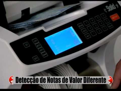 SD-5110 MÁQUINA DE CONTAR E VALORIZAR NOTAS EURO