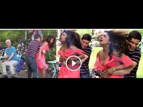 Priyanka Chopra Wardrobe Malfunction While Shooting Hollywood Film