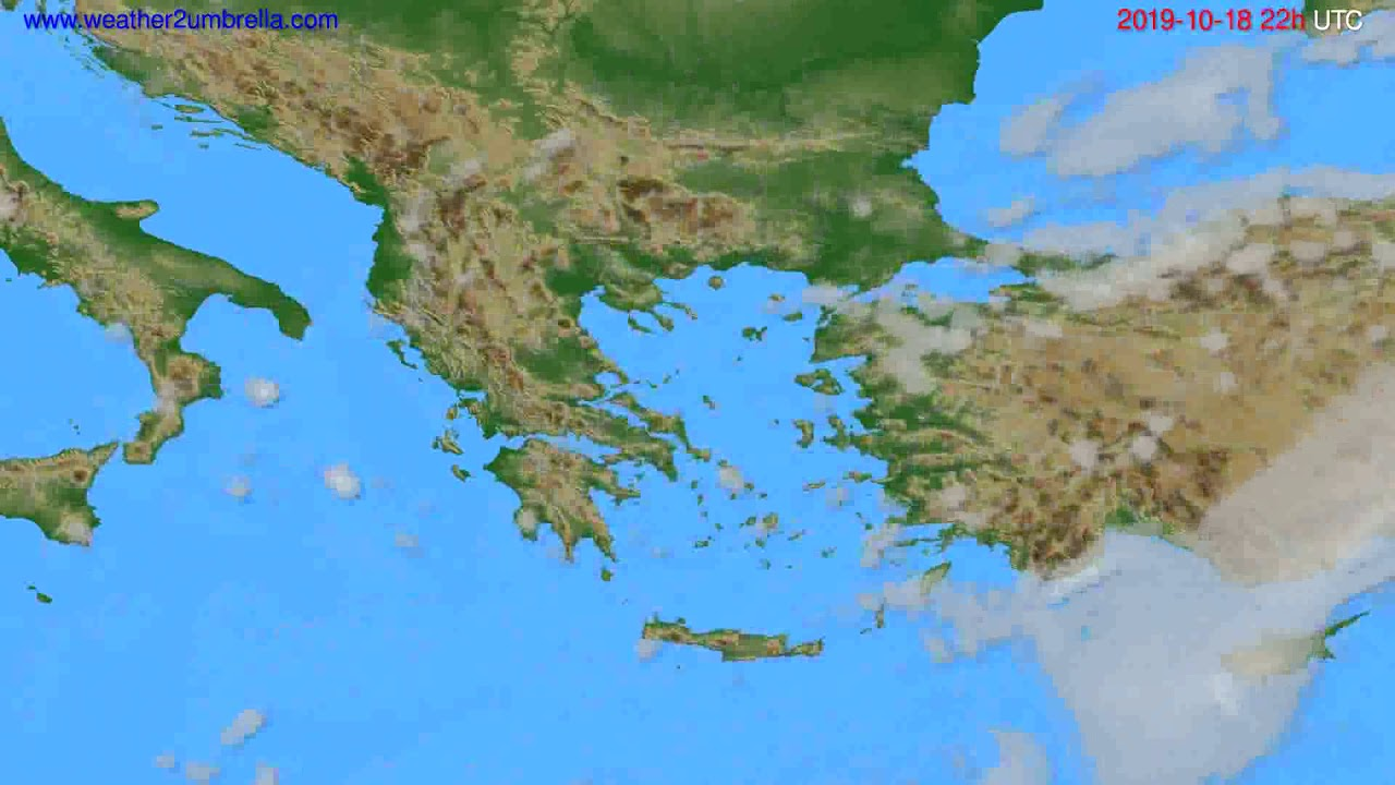 Cloud forecast Greece // modelrun: 00h UTC 2019-10-16
